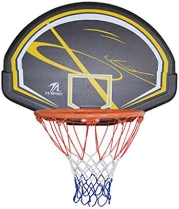 家庭用吊りバスケットボールフープ、子供の屋内バスケットボールスタンド、大人の壁掛け式バスケットボールボード、PEのバックボード、バスケットボールのリング40センチメートルの内径 (Color : Black, Size : 79cm*56cm)
