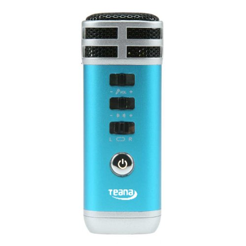 NEWSKY Mini Karaoke Singing Player Portable Microphone For PC Phone PSP MP4 MP3 Blue from New Sky Enterprises