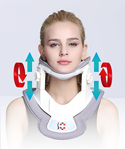 Cervical Neck Traction Device - Neck Massager & Brace - Neck & Shoulder Pain Relief - Portable home use/Home Improved Spine Alignment
