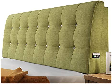 WENZHE Upholstered Headboard Bedside Cushion Pads Cover Bed Wedges Backrest Waist Pad Flax Soft Case Home Hotel Backrest Washable
