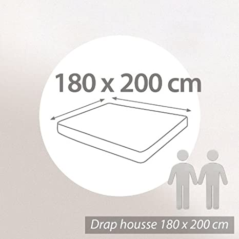 180x200 drap housse Protège matelas imperméable Arnaud blanc 180x200 Grand Bon40cm  180x200 drap housse