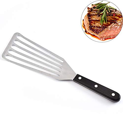 Fish Slice, Fish Turner, Stainless Steel Flipper Fish Shovel, Flexible Slotted Spatula for Steak Fish/Egg/Meat/Dumpling Frying - Kitchen Cookware