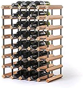 Z&HAO Gabinete De Madera del Vino del Almacenamiento del Hierro De La Madera Sólida Gabinete Clásico De Madera para Las Botellas - Tienda/Estante De La Vinoteca,40Bottle[Clase de eficiencia energética A]