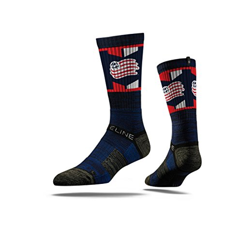 fan products of Strideline MLS New England Revolution Premium Athletic Crew Socks, Navy, One Size