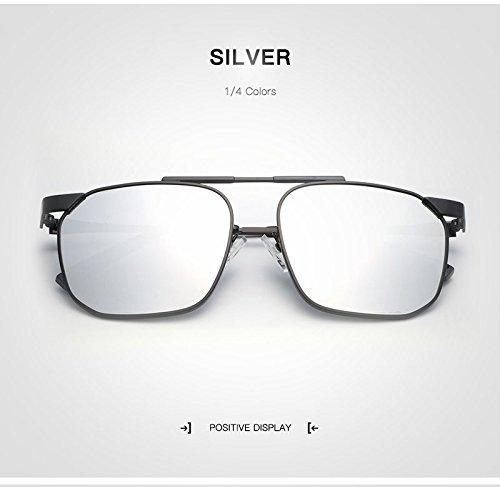 Classique Vintage de Lunettes Voyage Lunettes Hommes Pilot Silver Lunettes UV Oculos De Homme Soleil Soleil Designer de Sol JCH Gafas Goggle polarisées Marque 5XSPxXd