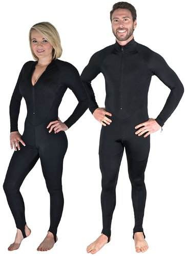 Storm Black Scuba Divers Lycra Dive Skin-XX-Large-Ships from the UK