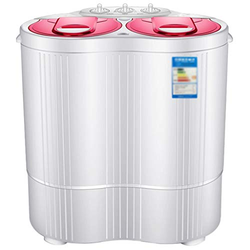 Double Cylinder Mini Washing Machine,Separate Timer for Easily Operate, Space Saving for Apartment, Hotel, Home 360570600 MM(Blue,Red)