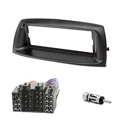 Autoradio 1-DIN Bluetooth USB con mascherina per Punto 188 CARAV R1-018-101-6 + ISO e adattatore antenna