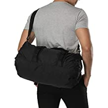 MIER Foldable Small Duffel Bag Lightweight for Sports, Gyms, Yoga, Travel, Black