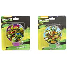 Nickelodeon's Teenage Mutant Ninja Turtles TMNT Children Night Light - (Set of 2)