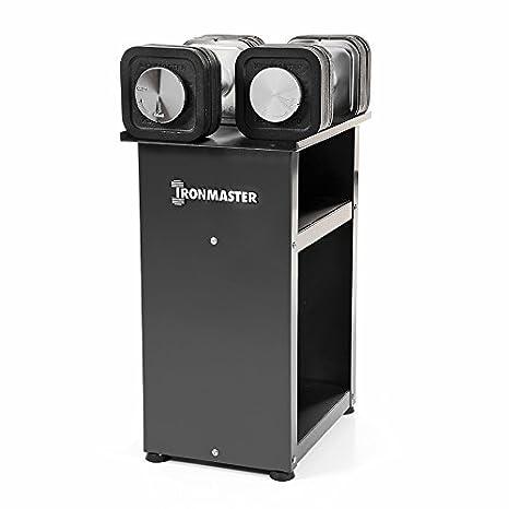 Ironmaster 75 LB Rápido Sistema de mancuerna Ajustable con Soporte: Amazon.es: Deportes y aire libre