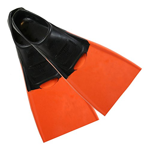 Deep Blue Gear Aquanaut II Fins for Diving, Snorkeling, and Swim, Kids Size 1-3, Orange