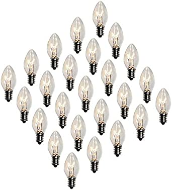 C-7 PINK CLEAR TWINKLE LIGHT BULBS BRAND NEW C7 E12 FLASHING Valentine/'s Day