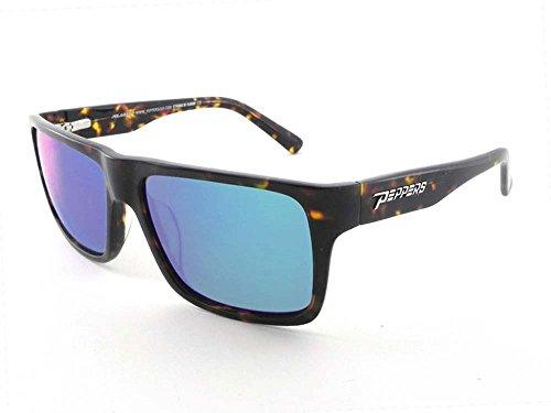 Peppers KAHUNA Shiny Havana Tortoise/Blue Mirror Polarized - Sunglasses Kahuna