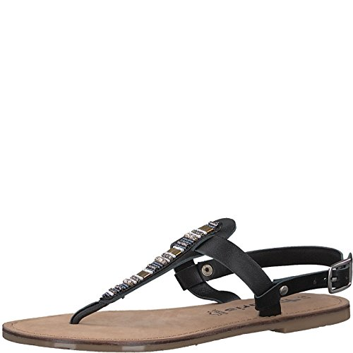 Tamaris 1-1-28098-20 Damen Sandale, Sandalette, Sommerschuhe Für Die Modebewusste Frau Black