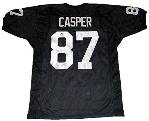 Dave Casper Autographed Jersey - #87 Black W Ghost - Autographed Nfl Jerseys