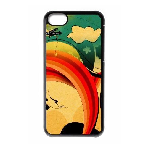 Sunset L coque iPhone 5c cellulaire cas coque de téléphone cas téléphone cellulaire noir couvercle EEECBCAAN05628