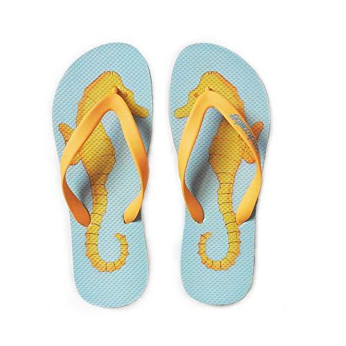 - Beachcomber Blue Water Seahorses Natural Rubber Flip Flops (Medium (Kids 5,6 Ladies 7,8))