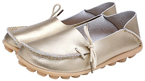Slip 1 Slipper Gold Cowhide ONS Shoes Sty Fangsto Flat Loafers Women's Leather q6tSC0Ow