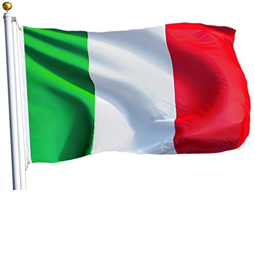 - G128 – Italy (Italian) Flag | 3x5 feet | Printed – Vibrant Colors, Brass Grommets, Quality Polyester