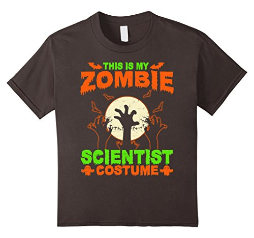 Kids This Is My Zombie Scientist Costume T-Shirt 8 Asphalt