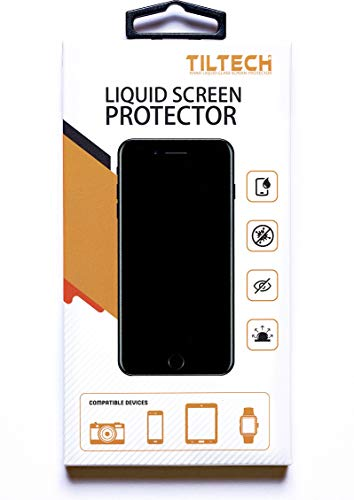 TILTECH Nano Liquid Glass Screen Protector for All Smart Phones, Tablets, Glass Screens - Scratch Resistant Invisible Armor (Liquid Screen)
