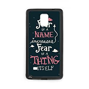 Samsung Galaxy Note 4 Cell Phone Case Black Harry Potter quotes Kyiig