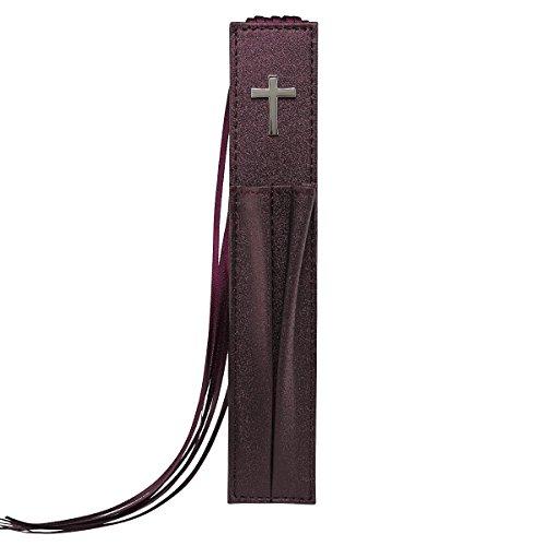Purple Satin Bible Bookmark w/Cross from Christian Art Gifts