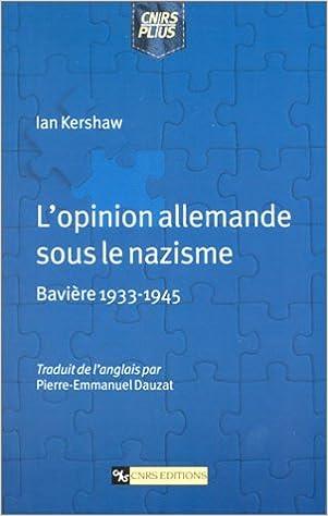 Read L'opinion allemande sous le nazisme : Bavière 1933-1945 pdf, epub