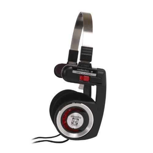 Koss 6303157 Porta Pro Classic – Ultra Portable, Collapsible stereo koptelefoon, Zwart, Eén maat