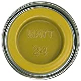 Humbrol 14ml No. 1 Tinlet Enamel Paint 24 (Trainer Yellow Matt)