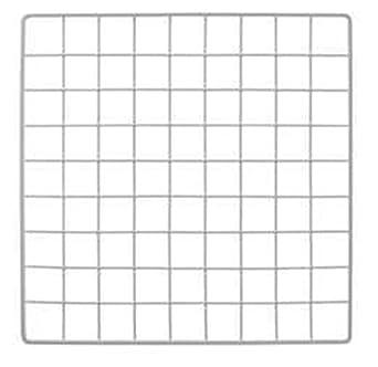 Wire Grid Panel | Amazon Com Mini White Grid Panel 14 W X 14 H 1 5 Squares Grid