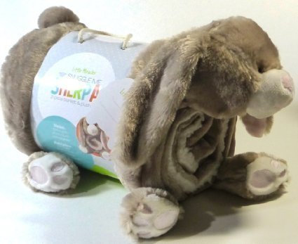 Bunny Throw (Little Miracles Baby Blanket & Plush Brown Bunny Rabbit Snuggle Me Sherpa)