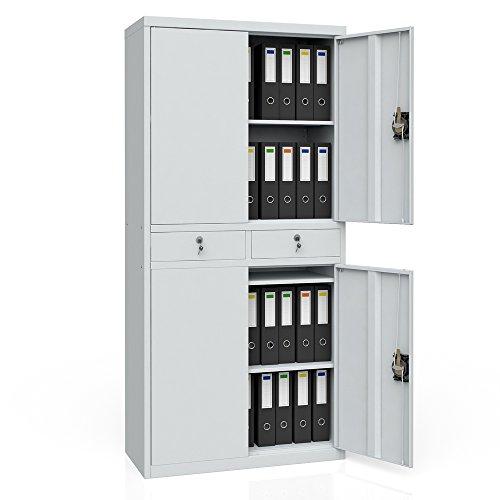 Aktenschrank Werkzeugschrank Büroschrank Metallschrank Universal Archiv Schrank 4 Türen