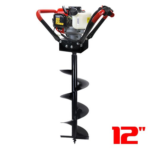 XtremepowerUS V-Type 55CC 2 Stroke Gas Post Hole Digger O...