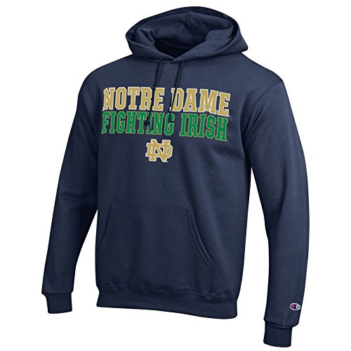 Champion Notre Dame Fighting Irish Mens Hoodie Sweatshirt Fight Navy - M