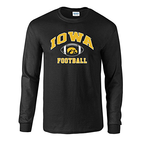 Iowa Hawkeyes Fan - Elite Fan Shop NCAA Men's Iowa Hawkeyes Football Long Sleeve T-shirt Team Color Iowa Hawkeyes Black Medium