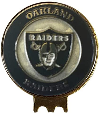 0521a484 Amazon.com : Oakland Raiders Golf Ball Marker ON HAT Clip Brass Gift ...