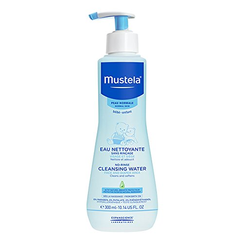 Mustela No Rinse Cleansing Water, Gentle Micellar Water with Natural Avocado Perseose and Aloe Vera, for Baby Normal Skin - Moisturizing Normal Skin Body Wash