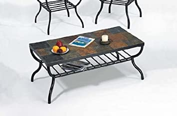 Amazon Com Stone Top Coffee Table By Acme Furniture Furniture Decor