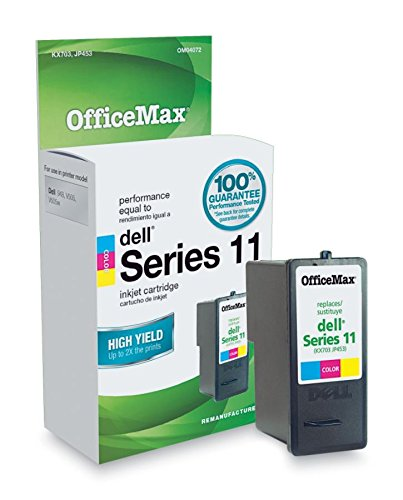 OfficeMax Remanufactured Color HY Ink Cartridge Replacement for Dell KX703 JP453