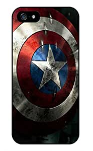 Color.Dream Captain America Shield Pattern Hard Plastic Back Case Cover Phone Protective Case for iPhone 5/5S