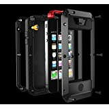 FOME Waterproof Shockproof Dust/Dirt Proof Aluminum Metal Military Heavy Duty Protection Cover Case for Apple iPhone 6 plus/iPhone 6s plus (Button style) +FOME GIFT