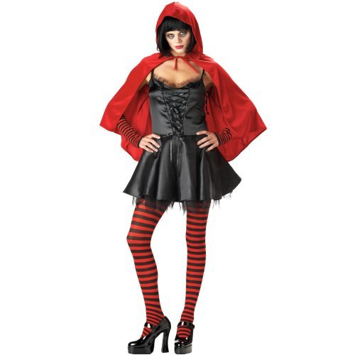 California Costumes Little Dead Riding Hood Adult Costume - Red/Black, Small (Living Dead Dolls Little Red Riding Hood)