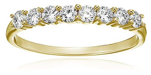 (Vir Jewels 1/2 cttw Diamond Wedding Band in 14K Yellow Gold In Size 7)