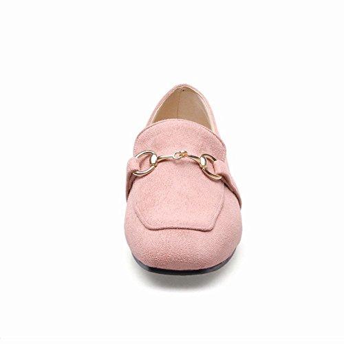 Latasa Kvinners Firkantet Tå Flat Slip På Loafers Rosa