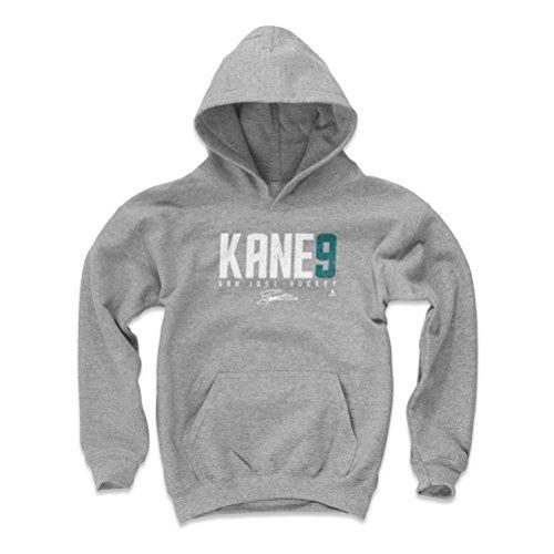 500 LEVEL San Jose Hockey Youth Hoodie - Kids Small Gray - Evander Kane Kane9 W WHT