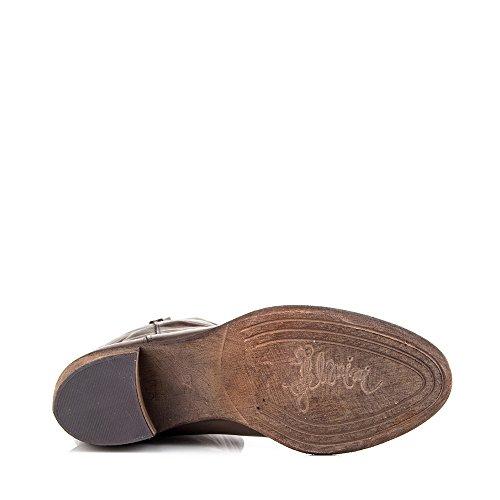 Felmini - Zapatos para Mujer - Enamorarse con Madison 8466 - Botas Altas Clasicas - Cuero Genuine - Marrón - EU: