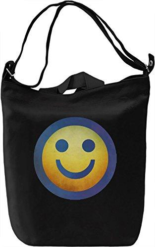 Smiley face Borsa Giornaliera Canvas Canvas Day Bag| 100% Premium Cotton Canvas| DTG Printing|