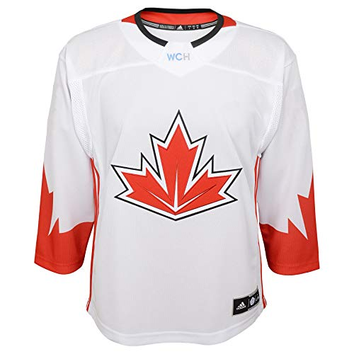adidas Team Canada 2016 World Cup of Hockey Youth White Premier Jersey (Youth (L/XL))